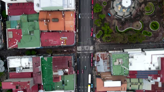Beautiful cinematic Zenith view of the city of San Jose Costa Rica