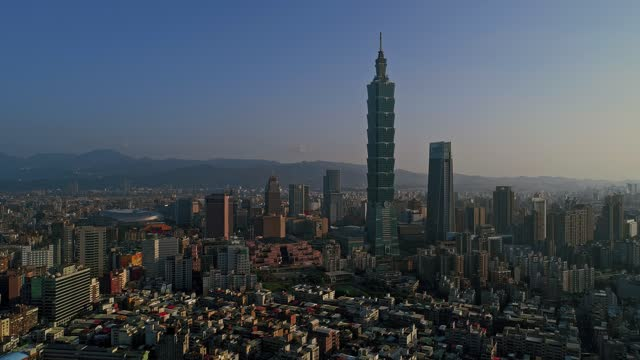 beautiful cityscape at dawn - taiwan stock videos & royalty-free footage