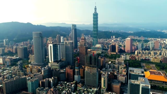 beautiful cityscape at taipei center district, taiwan - taipei stock videos & royalty-free footage