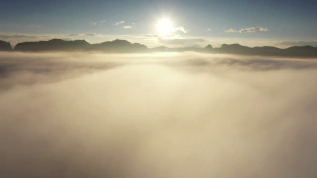 beautiful cloud natural in morning - high up stock videos & royalty-free footage