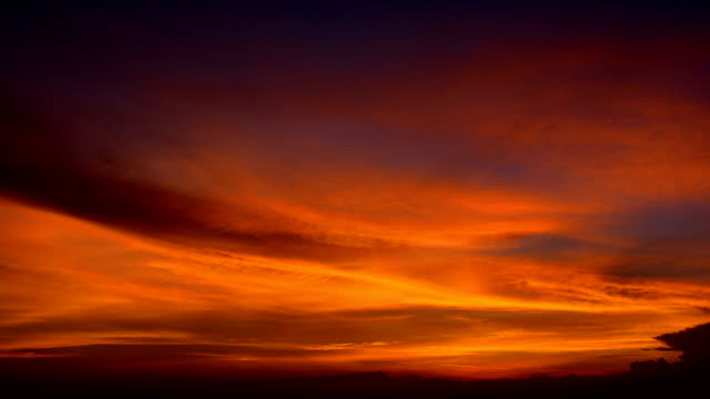 beautiful clouds after sunset time-lapse hd video - illusion stock videos & royalty-free footage