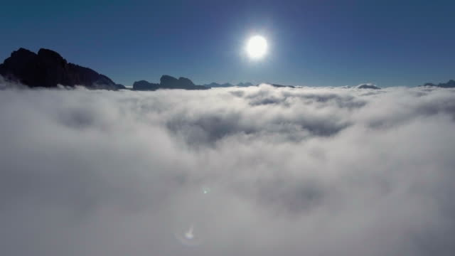 beautiful clouds over seceda mountains - landscaped stock videos & royalty-free footage