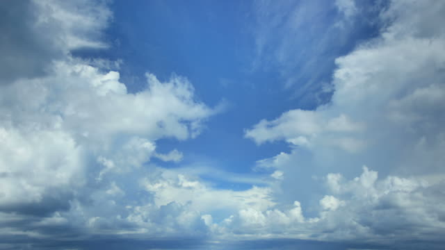 beautiful clouds time lapse. seamless loop - perfection stock videos and b-roll footage