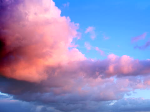 ntsc: beautiful clouds - cumulus cloud stock videos & royalty-free footage