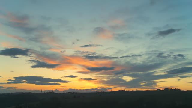 HD :TIME -LAPSE (低速度撮影) 美しい夕暮れ雲模様