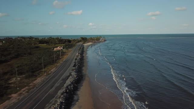 beautiful coast of porto seguro, bahia, brazil - porto seguro stock videos & royalty-free footage