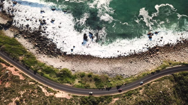 beautiful coastal road, cape town - strand south africa stock videos & royalty-free footage