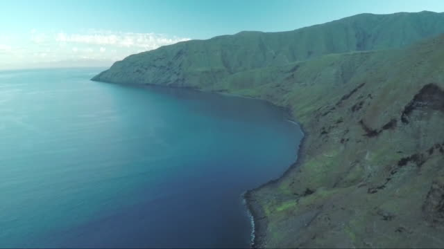 beautiful coastline- aerial view - natural land state stock videos & royalty-free footage