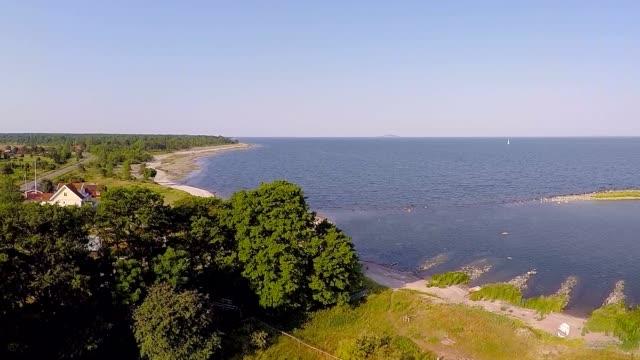 beautiful coastline at sea - coastal feature stock videos & royalty-free footage