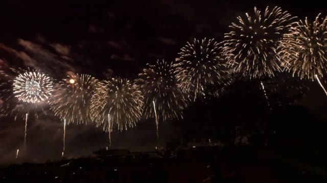 Beautiful coloful wide Fireworks