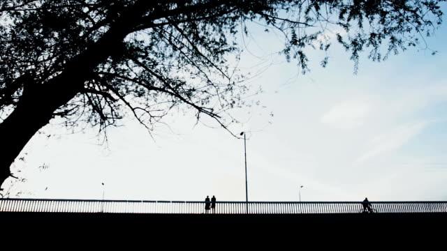 Paar mooie hugigng op de brug