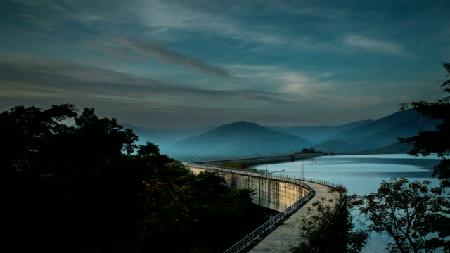 beautiful dam in thailand. - explosion wall stock videos and b-roll footage