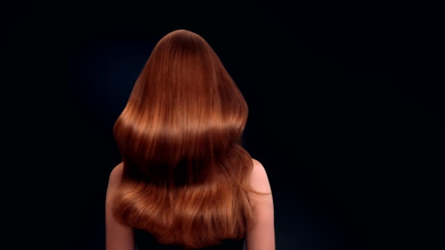 beautiful dark blond woman tossing long hair - long hair stock videos & royalty-free footage