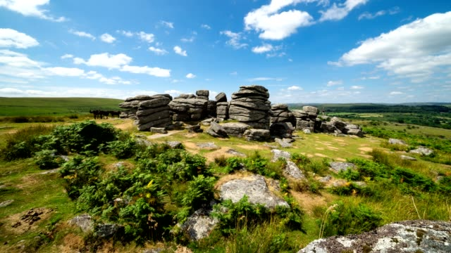 beautiful dartmoor time lapse - devon stock videos & royalty-free footage