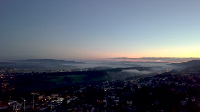 beautiful dawn in lucerne city, switzerland - kleinstadt stock-videos und b-roll-filmmaterial