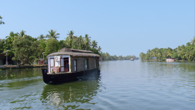 a beautiful day at the kearal backwaters - backwater stock videos & royalty-free footage