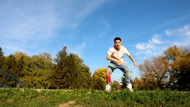 beautiful day for moving your body - doing the splits stock videos & royalty-free footage