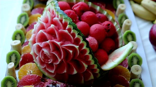 Magnifique décoration de la pastèque