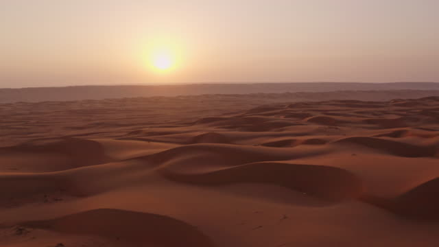 aerial beautiful desert at sunset - sand stock videos & royalty-free footage