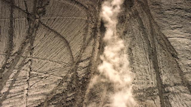 beautiful desert in utah, aerial view - tire track stock videos & royalty-free footage