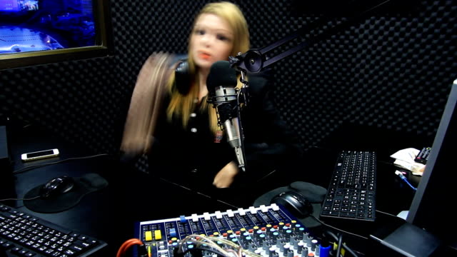 Beautiful DJ Radio Live Show On Air TIMELAPSE