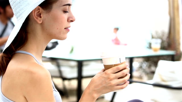 beautiful drink coffee - coffee drink stock videos & royalty-free footage