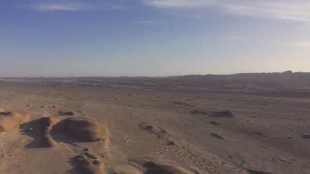 vidéos et rushes de beautiful drone landform view in qinghai province - dune de sable
