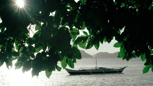 beautiful Elnido beach with boat in Palawan