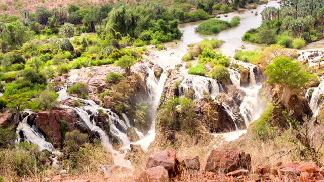 ha beautiful epupa falls - natural landmark stock videos & royalty-free footage