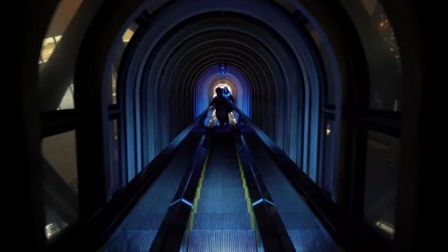 beautiful escalator in Osaka