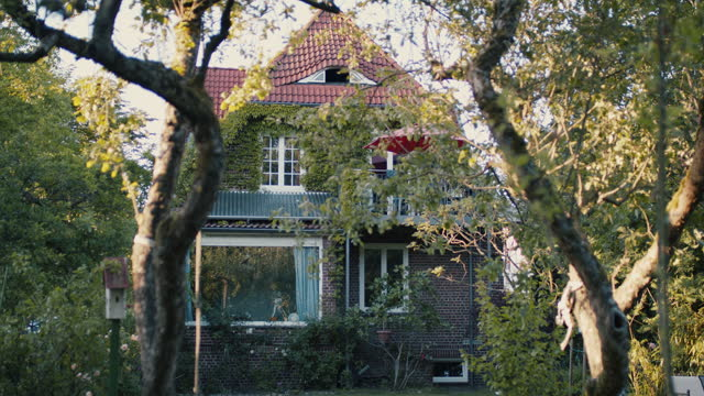 beautiful european villa with solar panel - absence stock videos & royalty-free footage