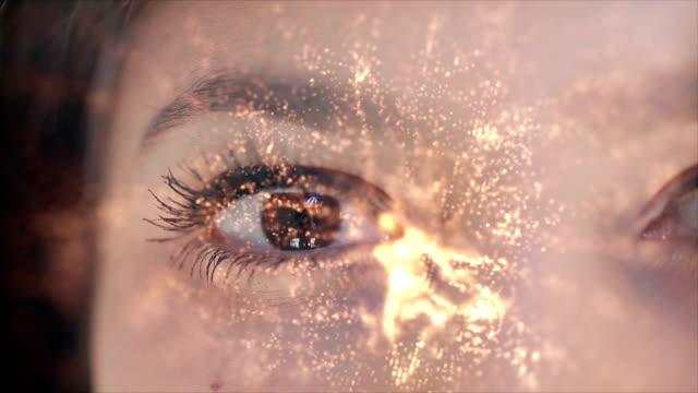 beautiful eye background - eyesight stock videos & royalty-free footage