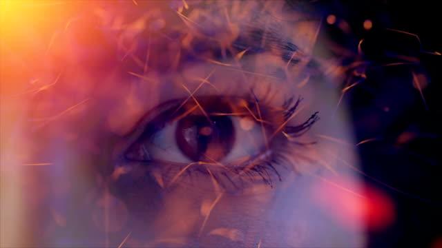 beautiful eye background - web address stock videos & royalty-free footage