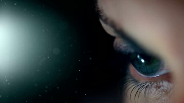 beautiful eye with copy space. hd - macro stock videos and b-roll footage