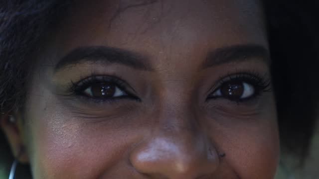 Beautiful Eyes of Afro Woman