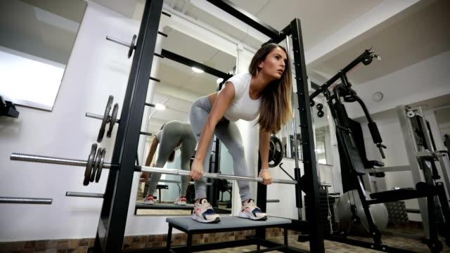Beautiful fit woman training