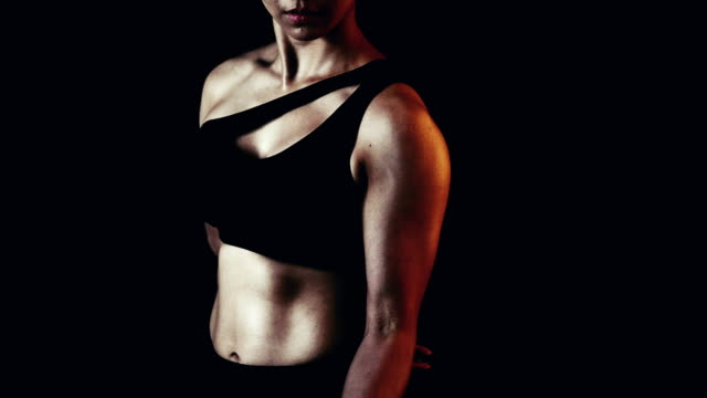 beautiful fitness woman with lifting dumbbells - bicep stock videos & royalty-free footage