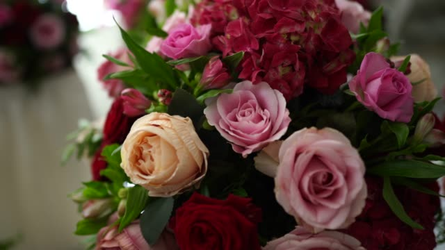 beautiful floral decor for wedding - wedding ceremony stock videos & royalty-free footage