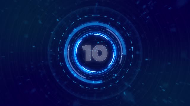 4k beautiful futuristic hud with countdown. the items are looped with numbers. head-up display computer data. hi-tech concept element. - head up display parte di veicolo video stock e b–roll