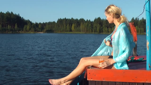 Beautiful Girl on the Boat