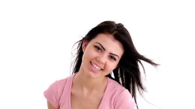 Beautiful girl smiling and posing at camera