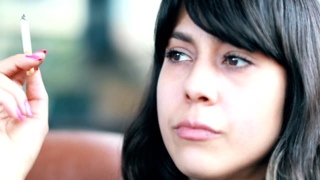 beautiful girl smoking cigarette - losing virginity stock videos & royalty-free footage
