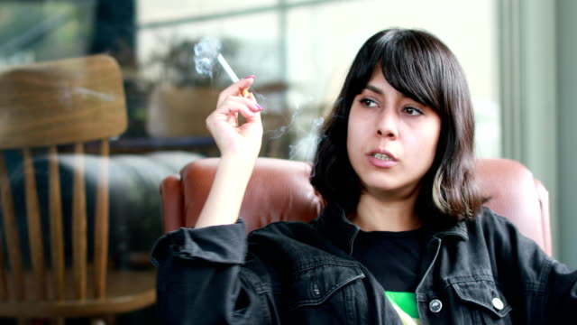 beautiful girl smonikg cigarette - losing virginity stock videos & royalty-free footage