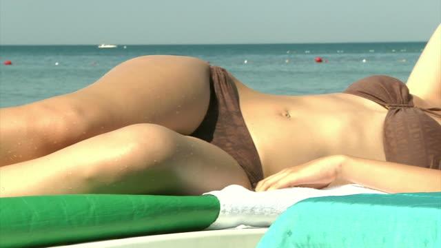 Beautiful Girl Sunbathing