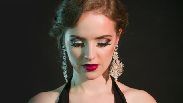 美麗迷人的女人 - 高清電視 影像的技術 個影片檔及 b 捲影像
