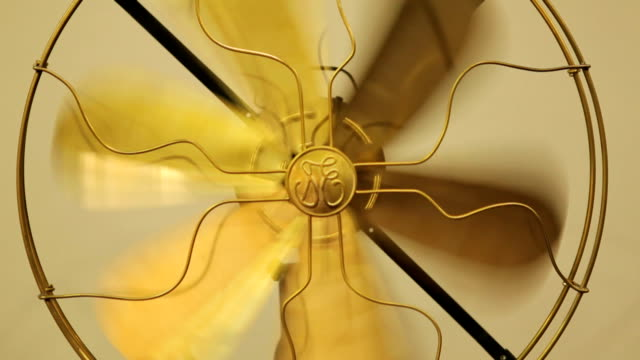 beautiful gold antique brass fan - cool attitude stock videos & royalty-free footage