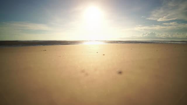 beautiful golden sand on sunrise - surf fishing stock videos & royalty-free footage