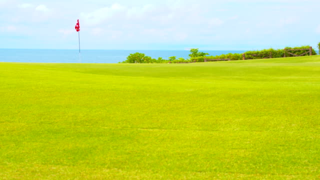 ws cs beautiful golf course in bali - green golf course stock videos and b-roll footage
