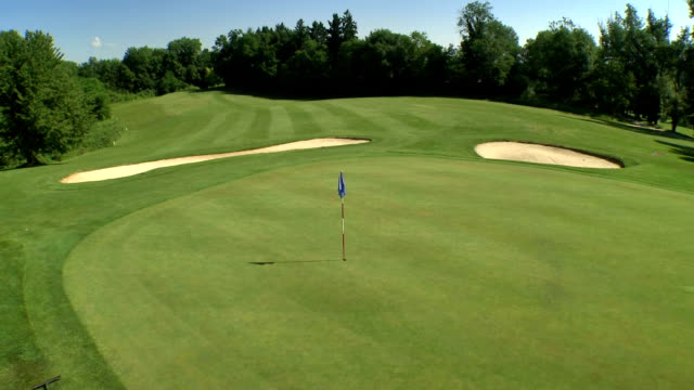 aerial beautiful golf course - golf course stock videos & royalty-free footage