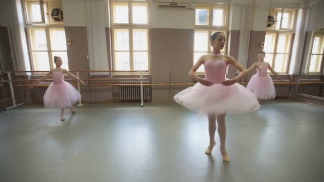 beautiful graceful young ballerinas - barre stock videos & royalty-free footage